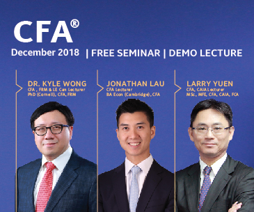 Free CFA seminar and demo lecture 2018